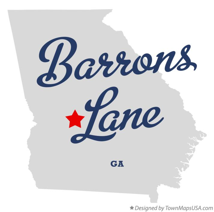 Map of Barrons Lane Georgia GA