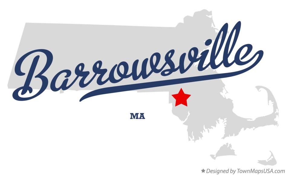 Map of Barrowsville Massachusetts MA