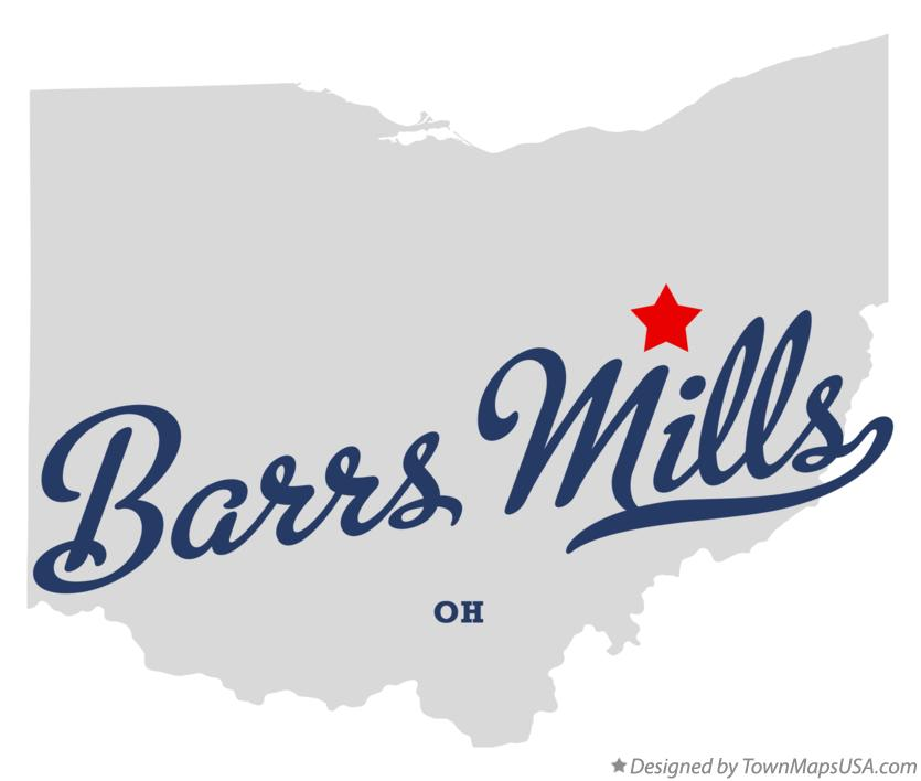 Map of Barrs Mills Ohio OH