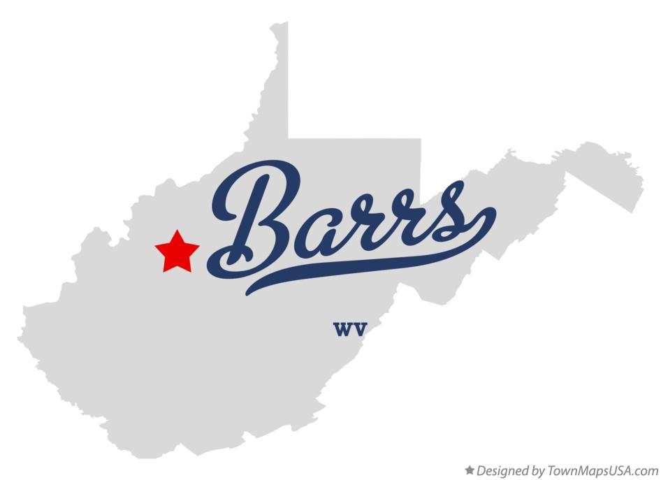 Map of Barrs West Virginia WV