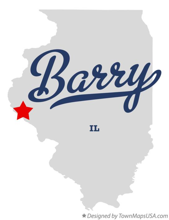 Map of Barry Illinois IL