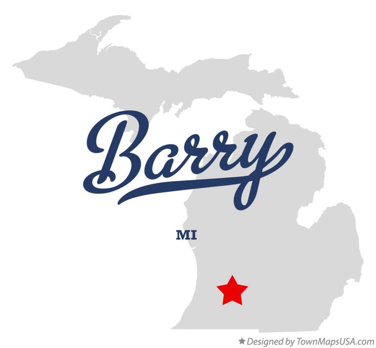 Map of Barry Michigan MI