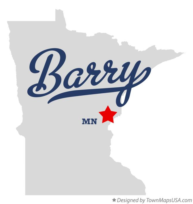 Map of Barry Minnesota MN