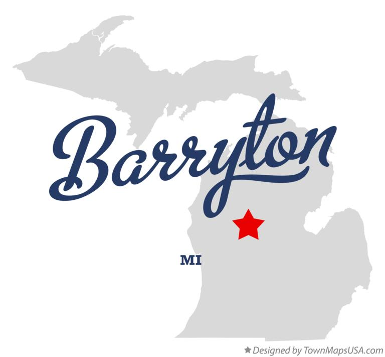 Map of Barryton Michigan MI