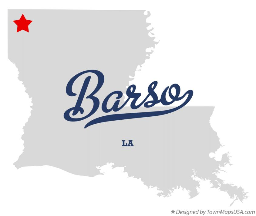 Map of Barso Louisiana LA