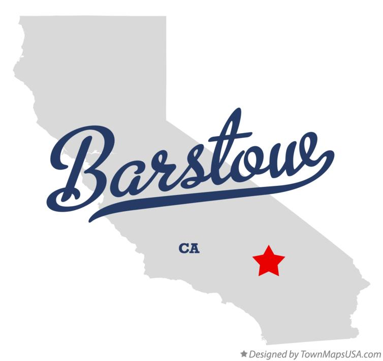 Map Of Barstow San Bernardino County Ca California