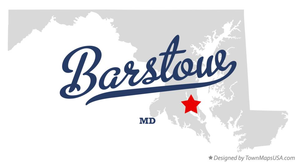 Map of Barstow Maryland MD