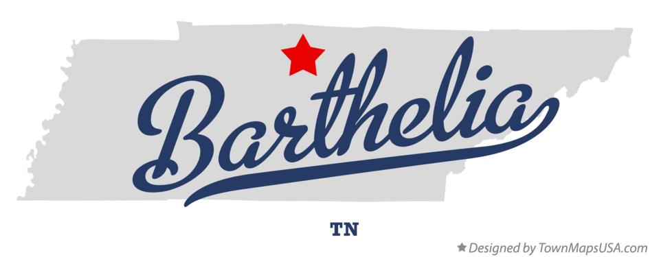 Map of Barthelia Tennessee TN