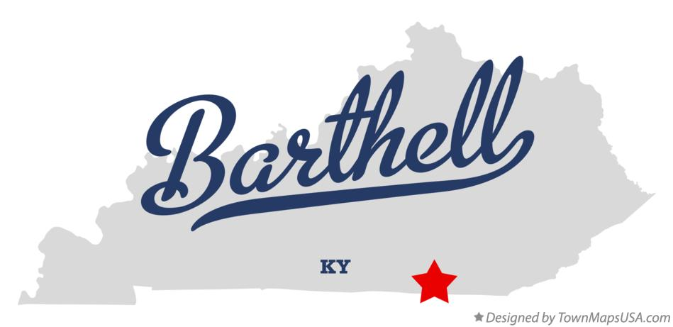 Map of Barthell Kentucky KY