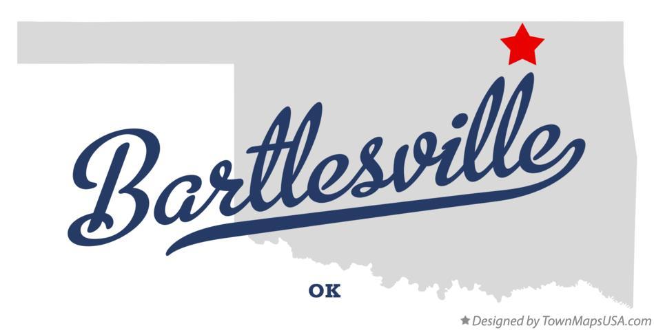 Map of Bartlesville OK Oklahoma