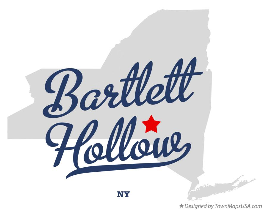 Map of Bartlett Hollow New York NY