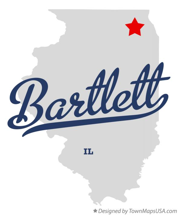 Map of Bartlett, IL, Illinois