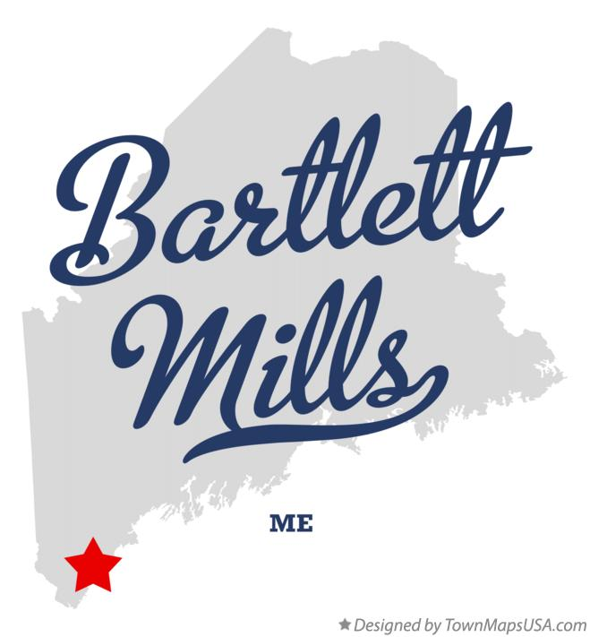 Map of Bartlett Mills Maine ME