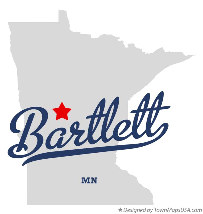 Map of Bartlett Minnesota MN
