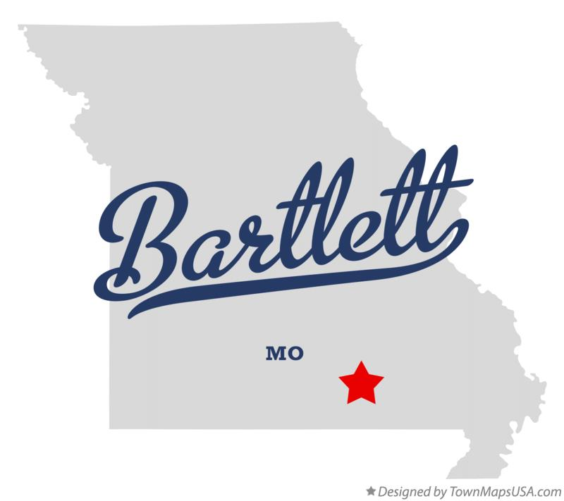 Map of Bartlett Missouri MO