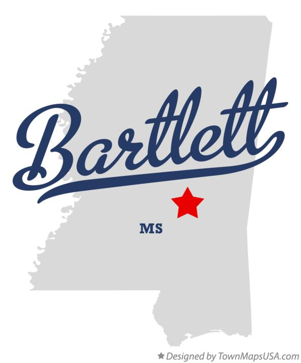 Map of Bartlett Mississippi MS