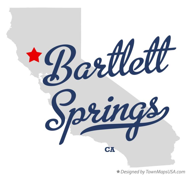 Map of Bartlett Springs California CA