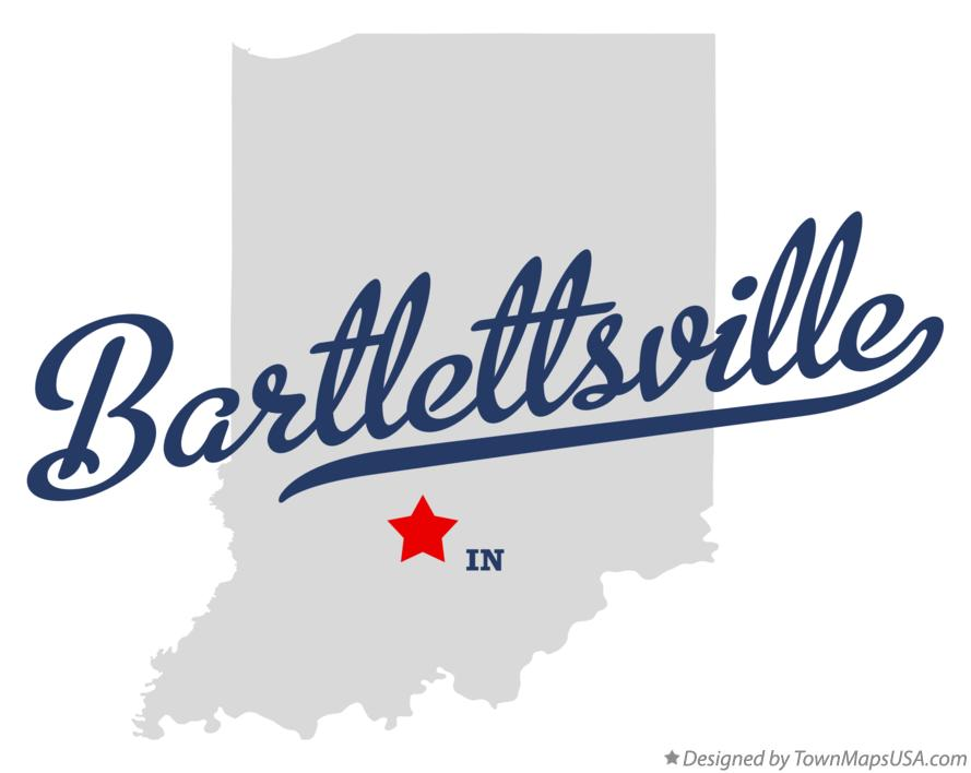 Map of Bartlettsville Indiana IN
