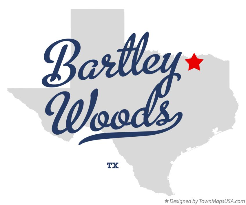 Map of Bartley Woods Texas TX