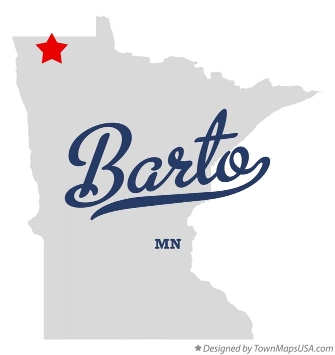 Map of Barto Minnesota MN