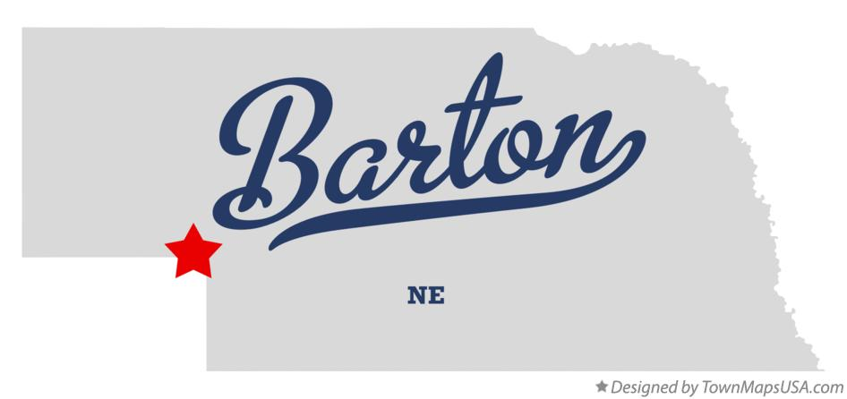 Map of Barton Nebraska NE