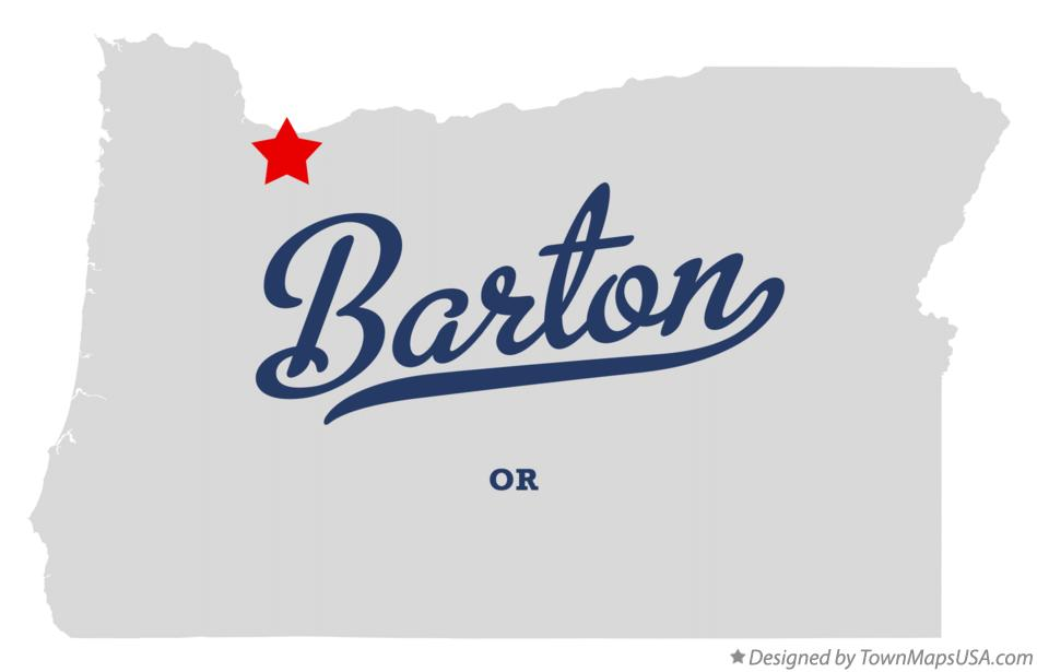 Map of Barton Oregon OR