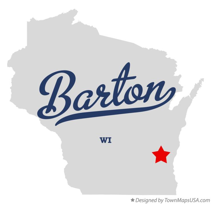 Map of Barton Wisconsin WI