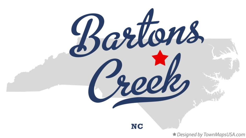 Map of Bartons Creek North Carolina NC
