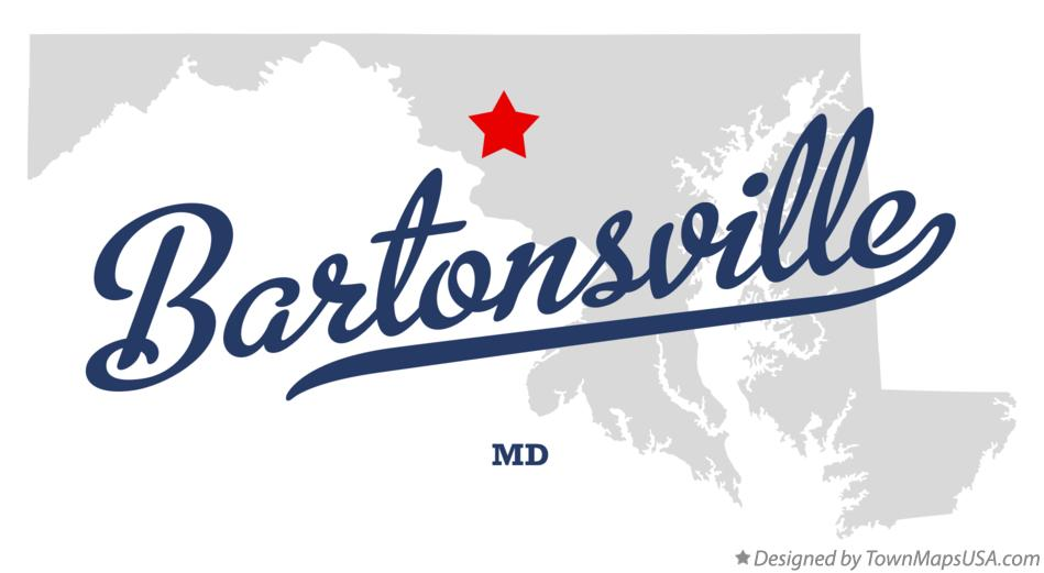 Map of Bartonsville Maryland MD