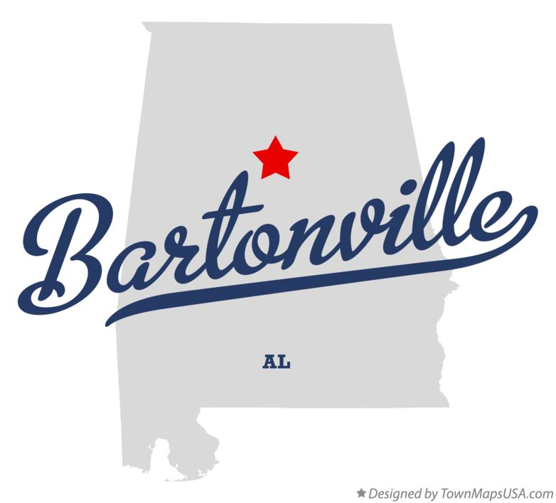 Map of Bartonville Alabama AL