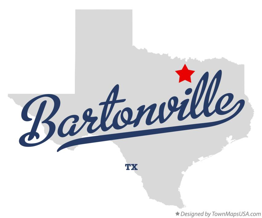 Map of Bartonville Texas TX