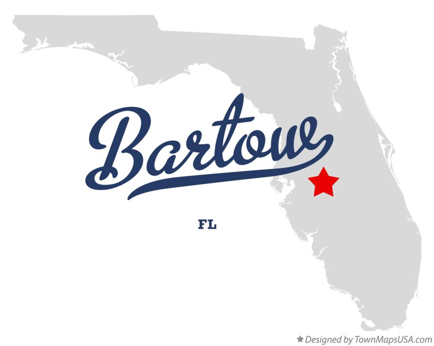 Map of Bartow Florida FL