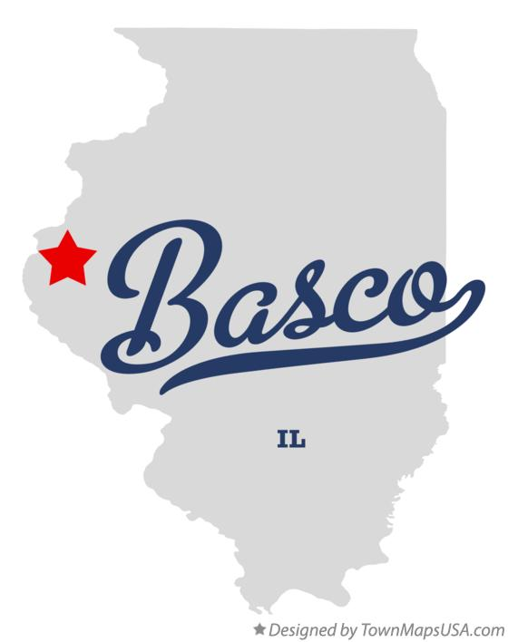 Map of Basco Illinois IL