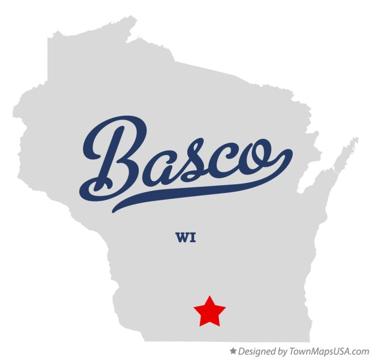 Map of Basco Wisconsin WI