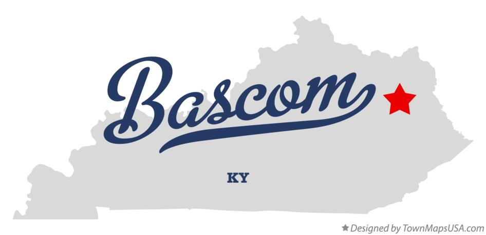 Map of Bascom Kentucky KY