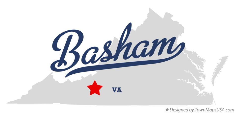 Map of Basham Virginia VA
