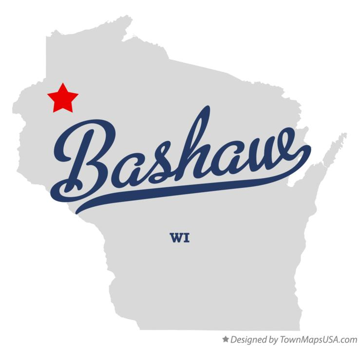 Map of Bashaw Wisconsin WI