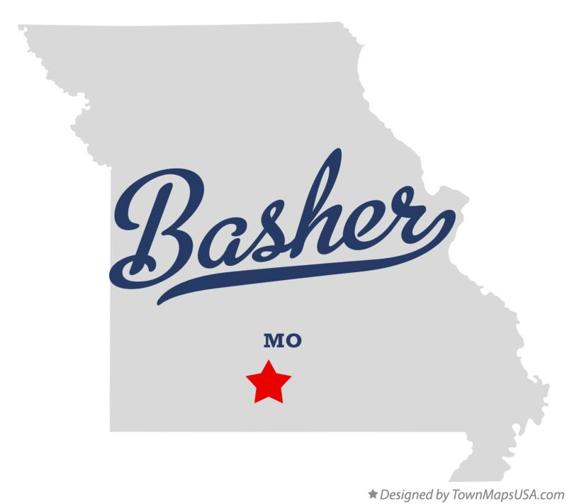 Map of Basher Missouri MO