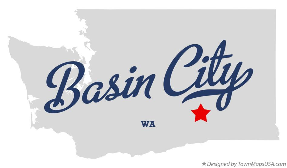 Map of Basin City Washington WA