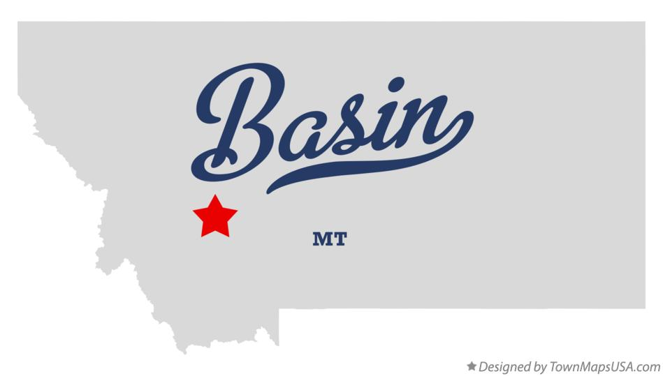 Map of Basin Montana MT