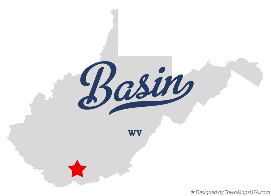 Map of Basin West Virginia WV