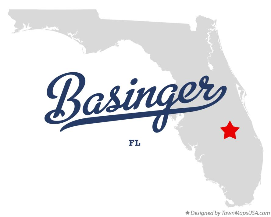 Map of Basinger Florida FL