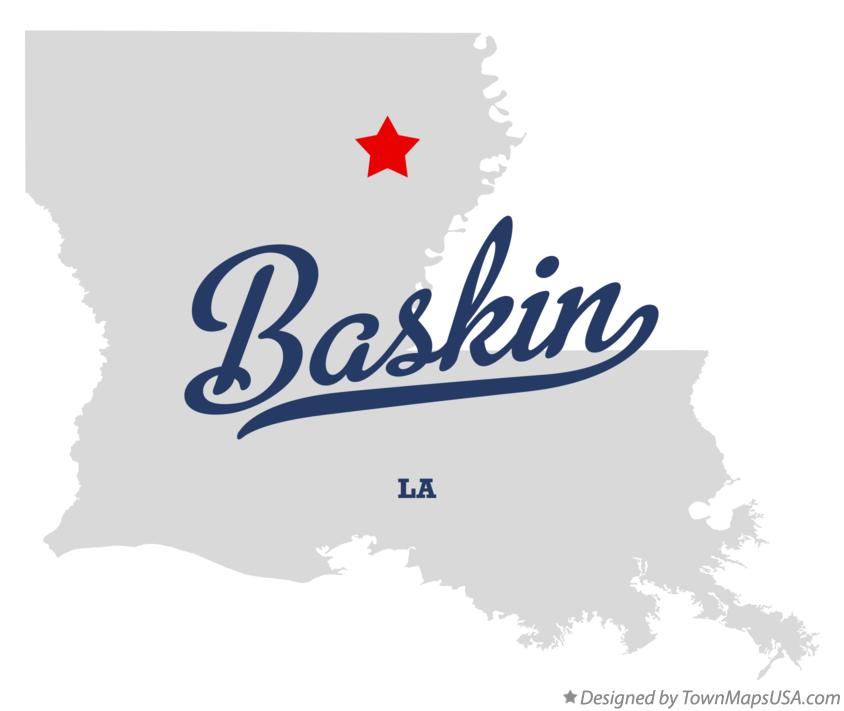 Map of Baskin Louisiana LA