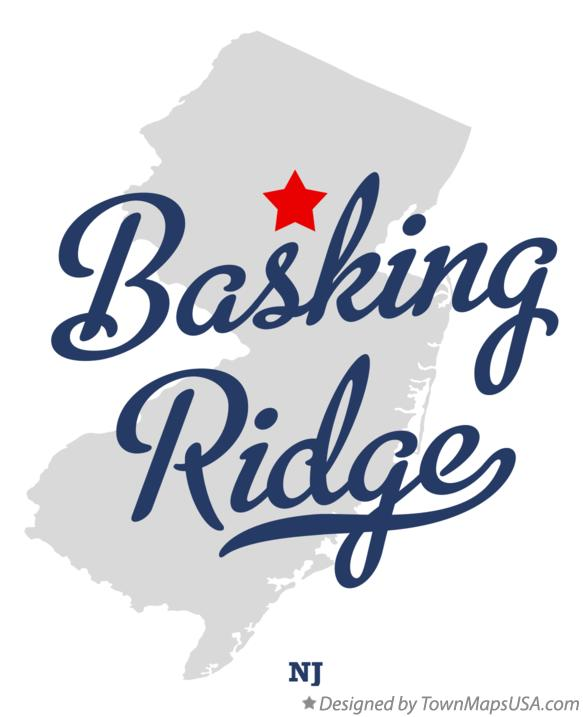 Map of Basking Ridge New Jersey NJ