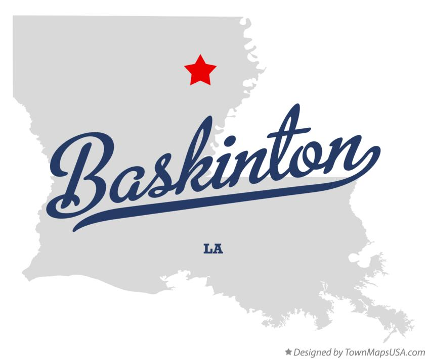 Map of Baskinton Louisiana LA