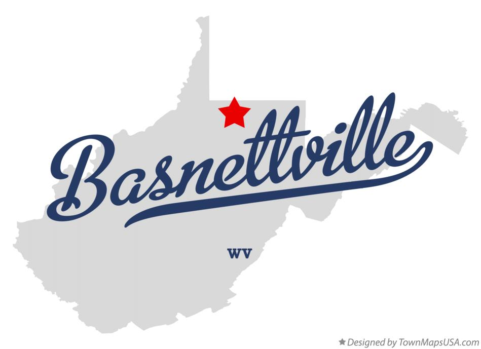 Map of Basnettville West Virginia WV