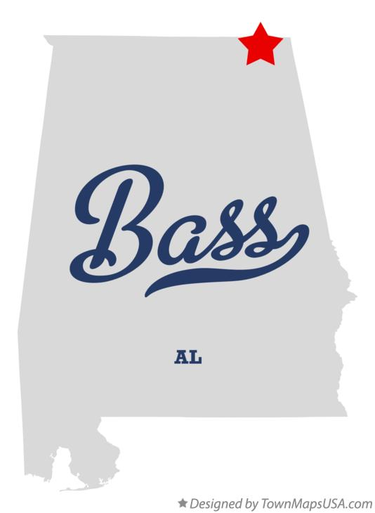 Map of Bass Alabama AL