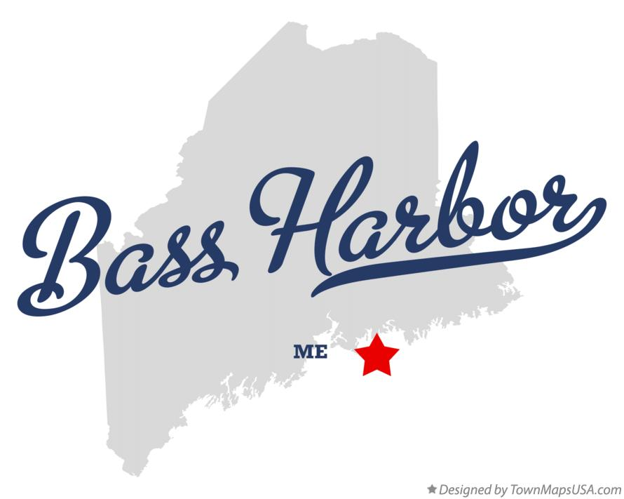 Map of Bass Harbor Maine ME