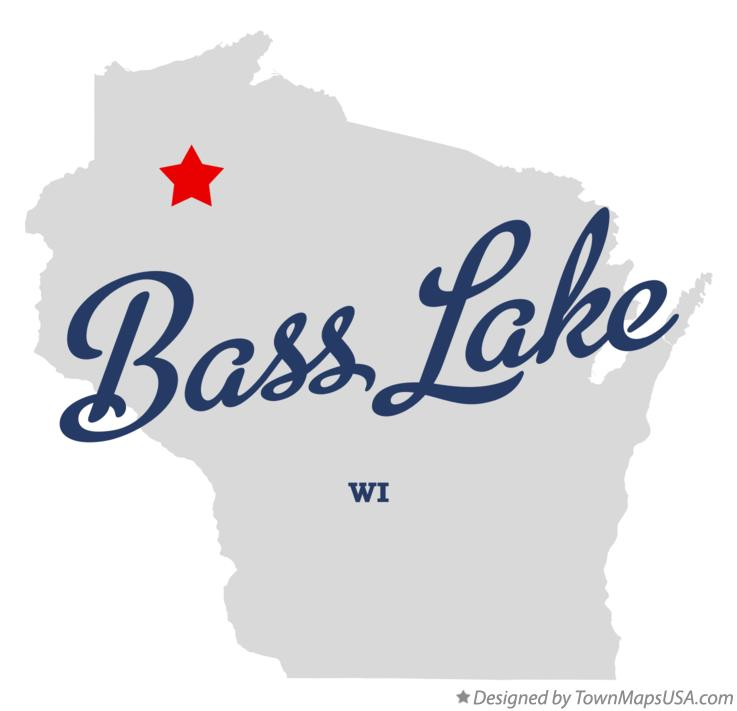 Map of Bass Lake Wisconsin WI