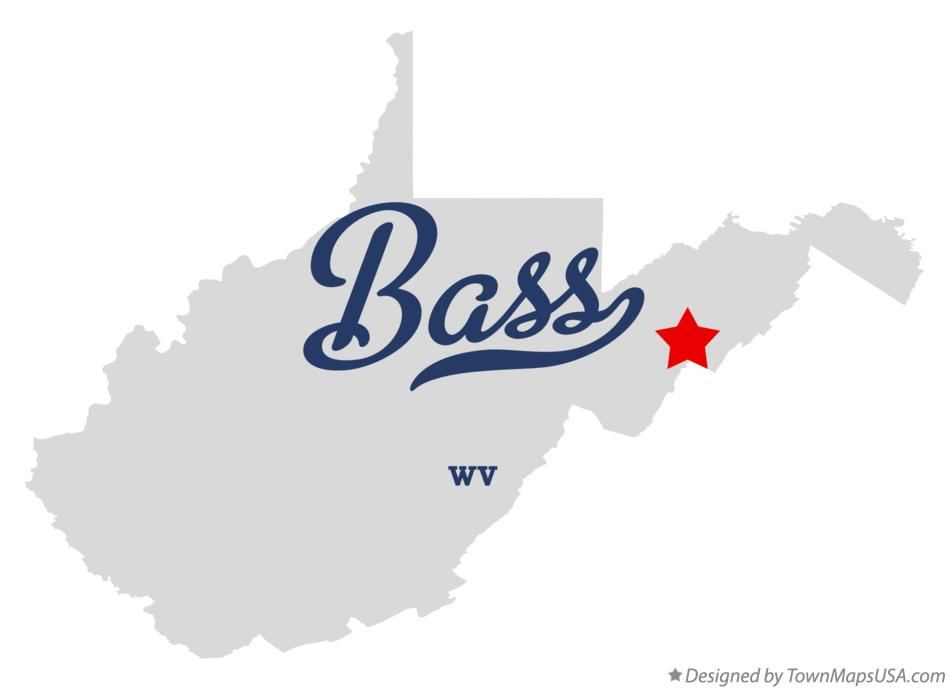 Map of Bass West Virginia WV